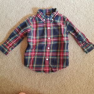 Janie and Jack Boys Plaid Button Down Shirt